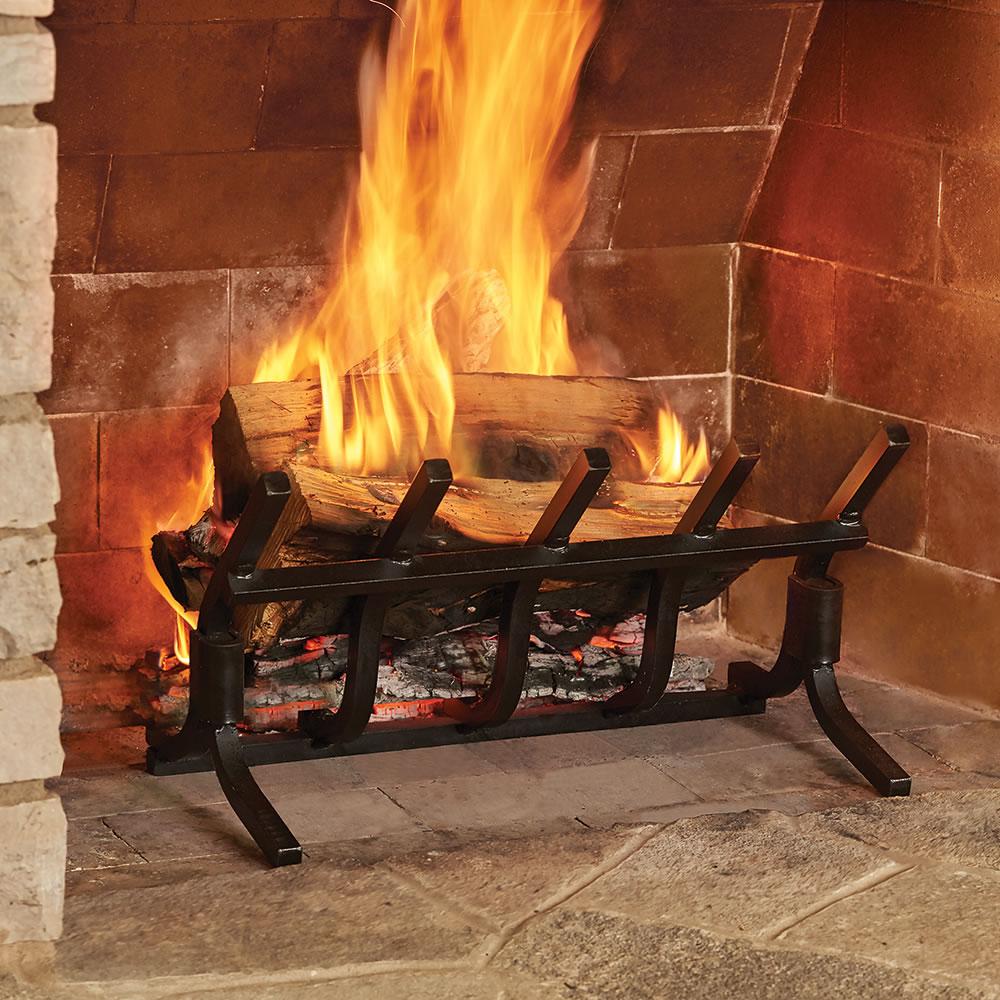 The Most Efficient Fireplace Grate Hammacher Schlemmer