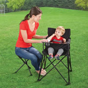 The Packable High Chair And Parenting Stool.