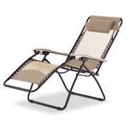 The Extra Wide Zero Gravity Breathable Mesh Lounger.