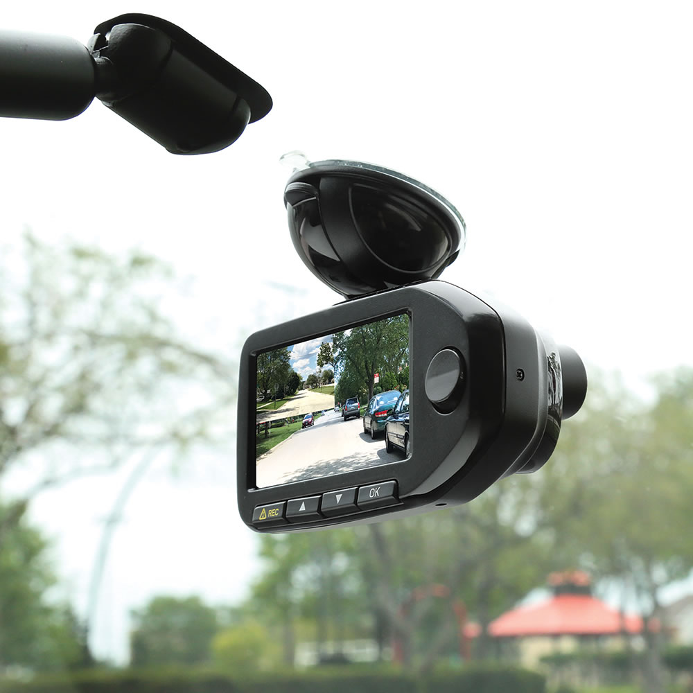The Front And Rear Dashboard Camera - Hammacher Schlemmer