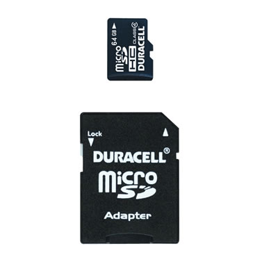 64 GB Micro SD Card with SD Adapter.