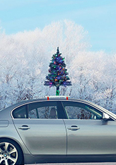 The Car Mounted Lighted Christmas Tree