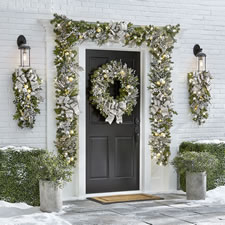 The Cordless Prelit Silver And Champagne Holiday Trim (Wreath)