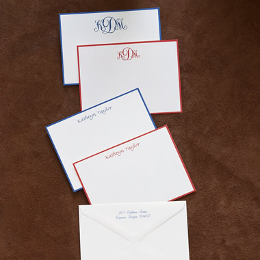 The 50 Personalized Cards and Envelopes