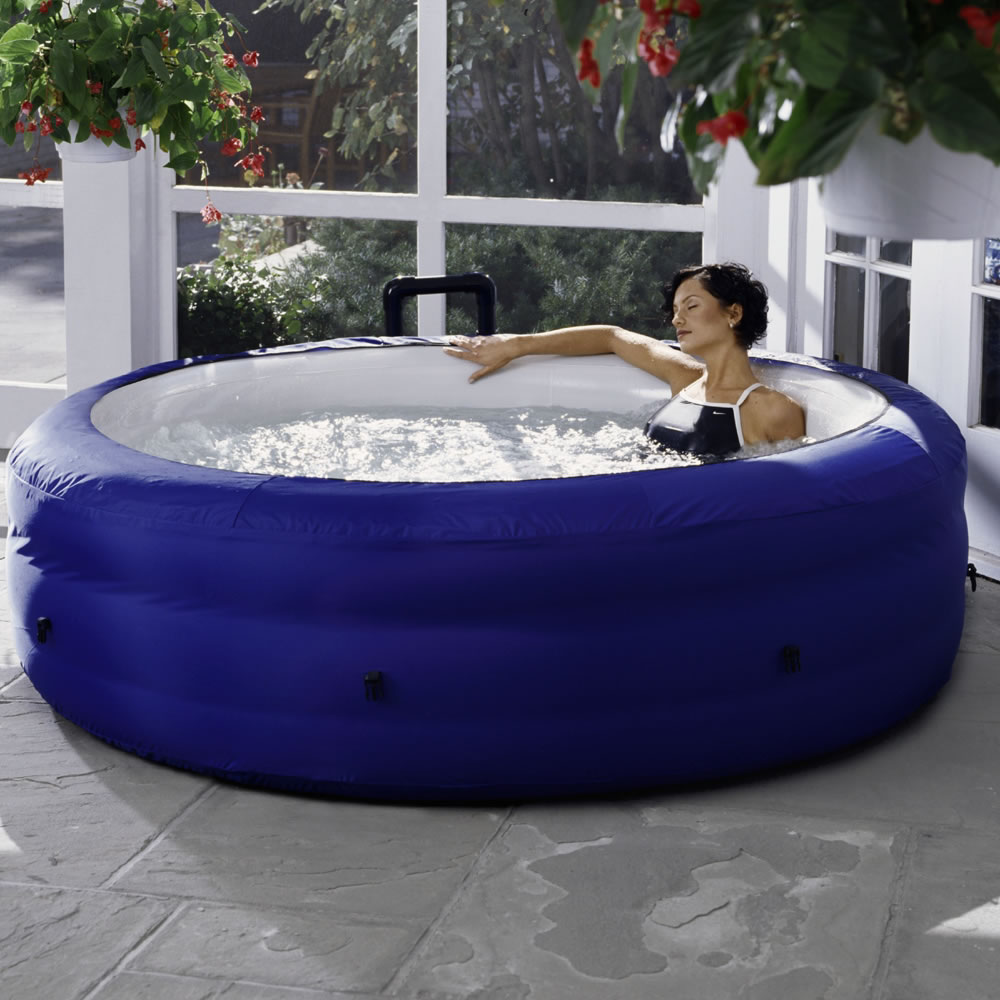 The Portable Inflatable Whirlpool Spa - Hammacher Schlemmer
