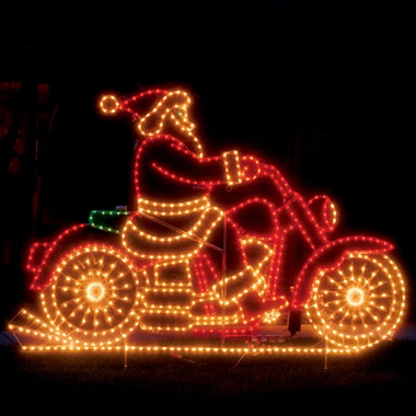 The Animated Santa Motorcycle.