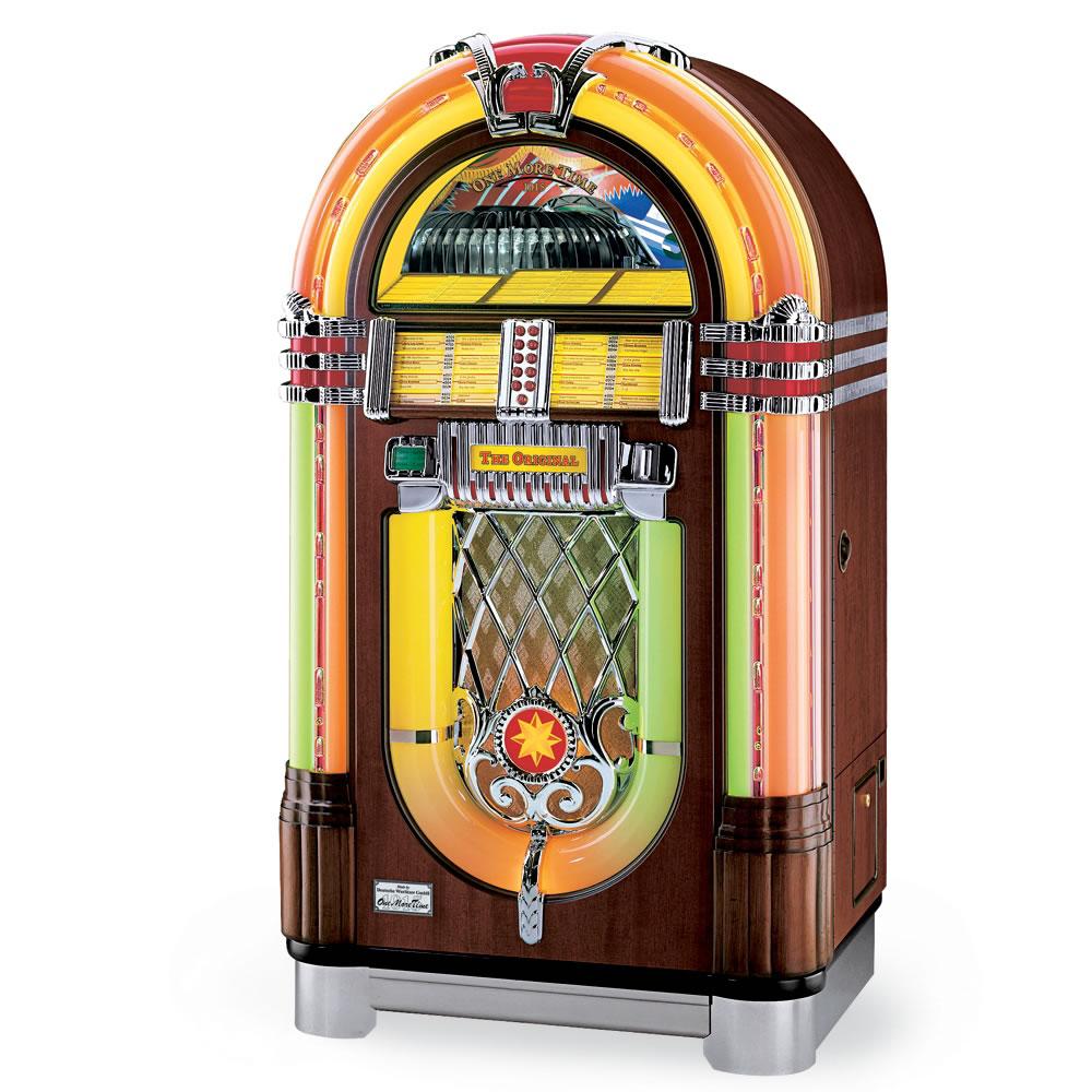 The Wurlitzer 45 Jukebox Hammacher Schlemmer