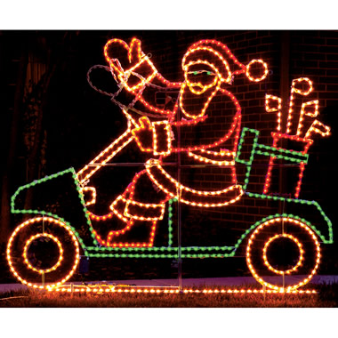 The Animated Golf Cart Santa.