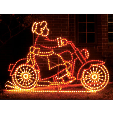 Mrs. Claus on Motorcycle.