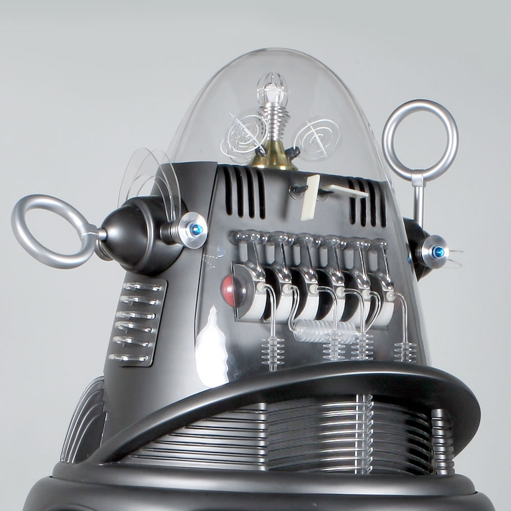The genuine 7 foot robby the robot hammacher schlemmer the genuine 7 foot robby the robot malvernweather Choice Image