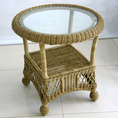The Classic Outdoor Hand-Woven Collection End Table