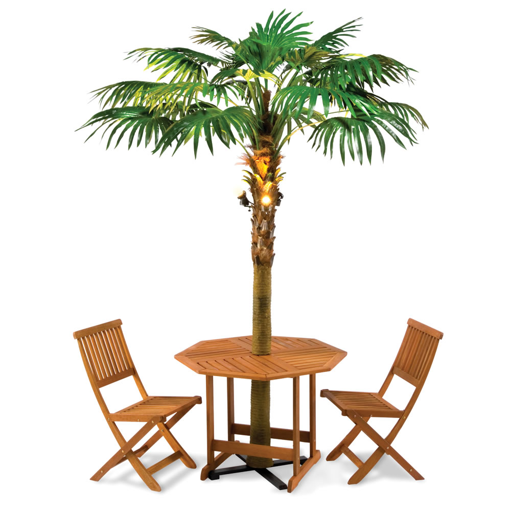 The Lighted Palm Tree Umbrella Hammacher Schlemmer