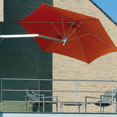 The Wall Mounted Patio Umbrella.