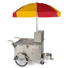 The Authentic New York Hot Dog Vendor Cart