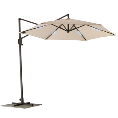 The Cordless Lighted Cantilever Umbrella