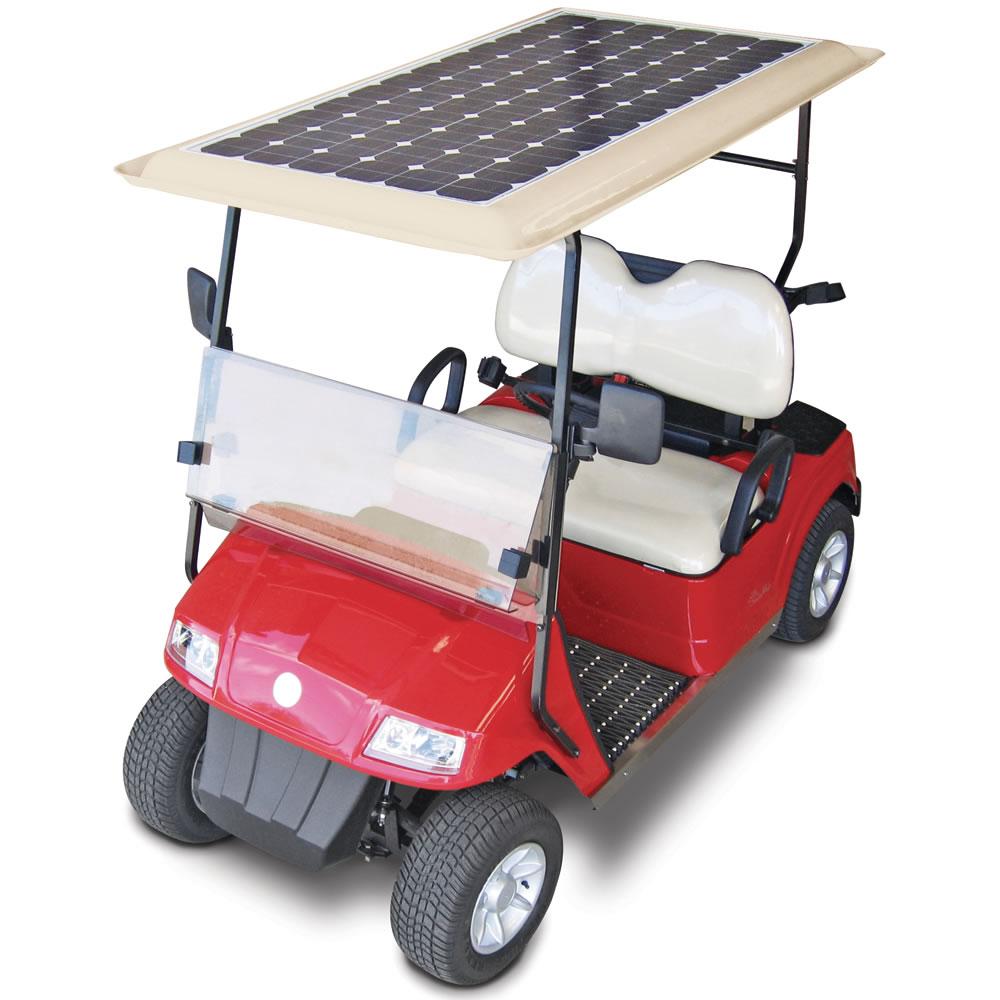 The Solar Powered Golf Cart Hammacher Schlemmer