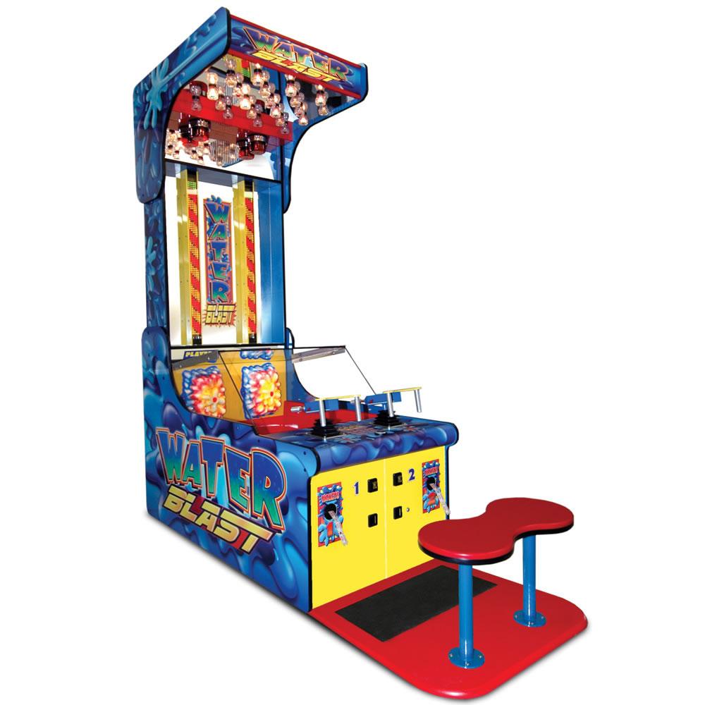 The Authentic Water Blast Arcade Game Hammacher Schlemmer