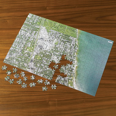 The Personalized Satellite Map Jigsaw Puzzle