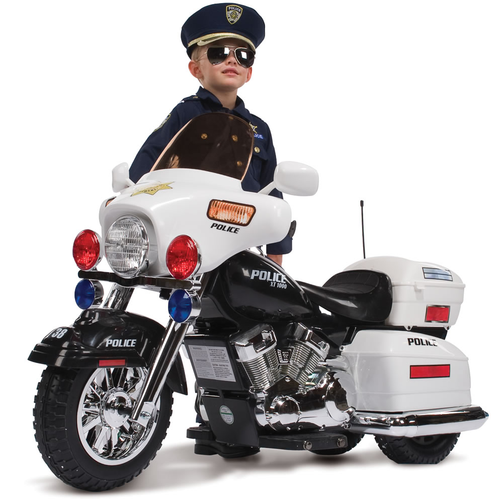 The Ride On Police Motorcycle Hammacher Schlemmer