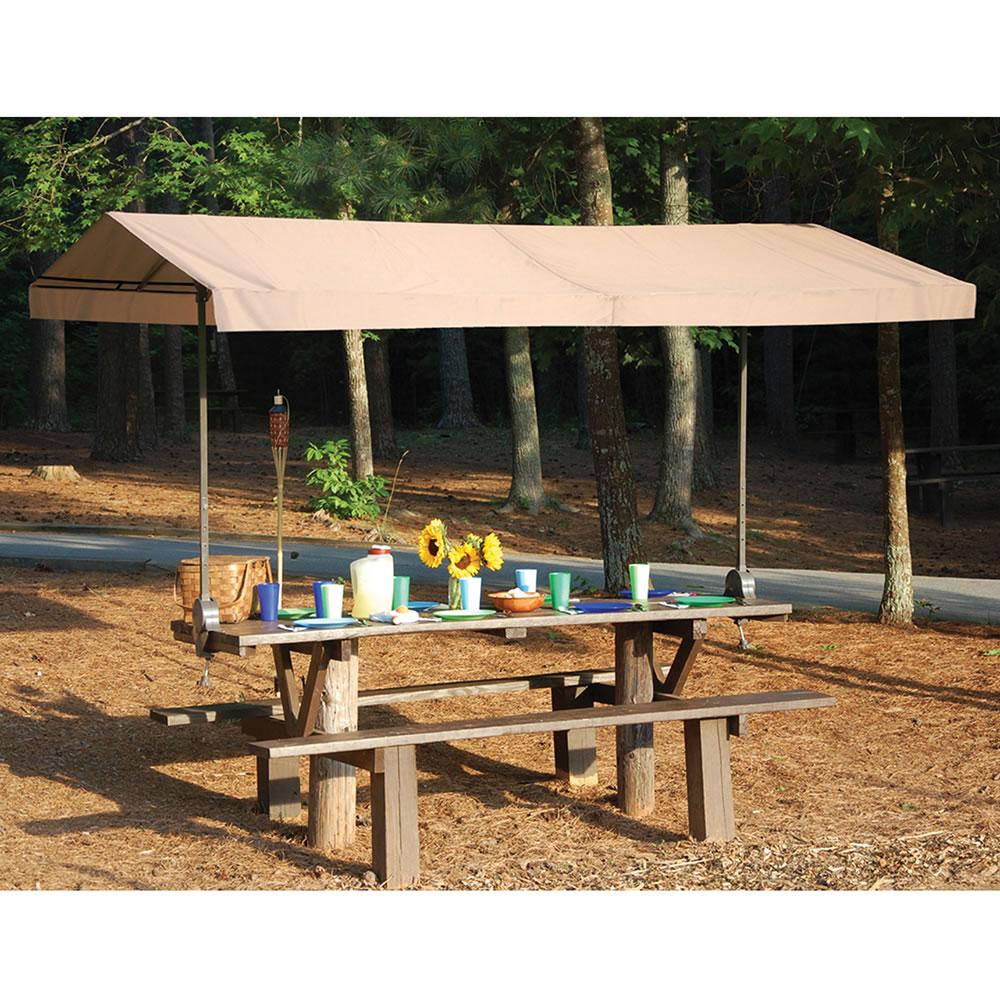 The Cl& On Picnic Table Canopy  sc 1 st  Hammacher Schlemmer & The Clamp On Picnic Table Canopy - Hammacher Schlemmer
