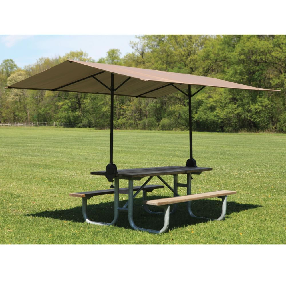 The clamp on picnic table canopy hammacher schlemmer for 10 ft picnic table
