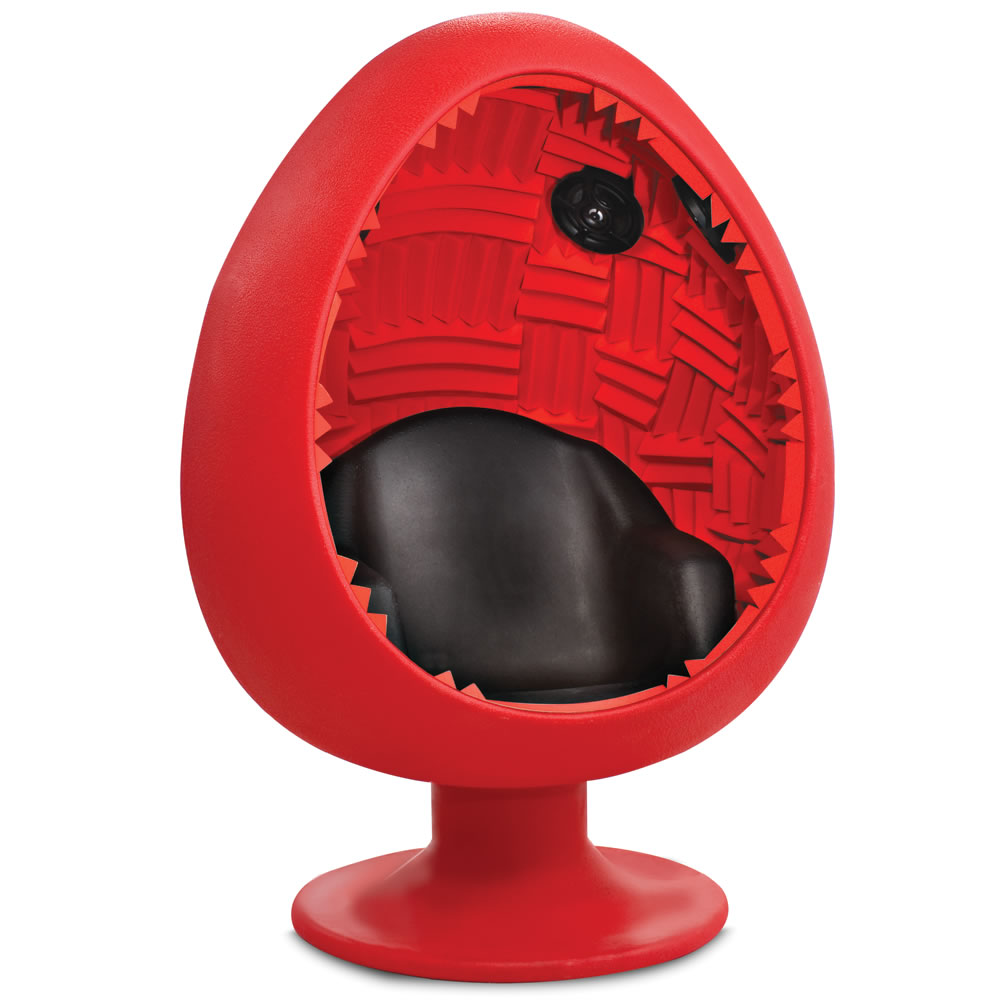 Beau ... Egg Pod Speaker Chair Lounge Modern. The Acoustic Immersion Pod  Hammacher Schlemmer