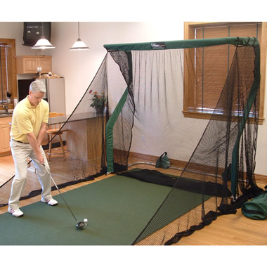 The Continuous Practice Golf Trainer.