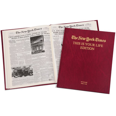 The New York Times Of Your Birthdays (Septuagenarian)