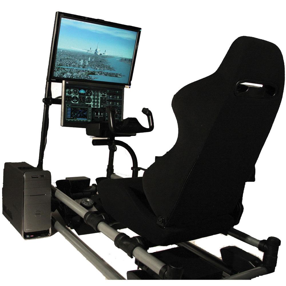 The Cockpit Flight Simulator Hammacher Schlemmer