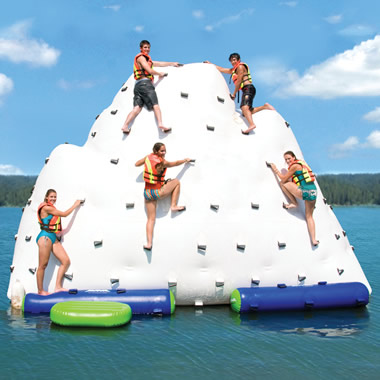 The Gigantic Inflatable Climbing Iceberg.