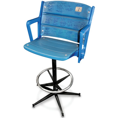The Autographed Authentic Yankee Stadium Seat Barstool