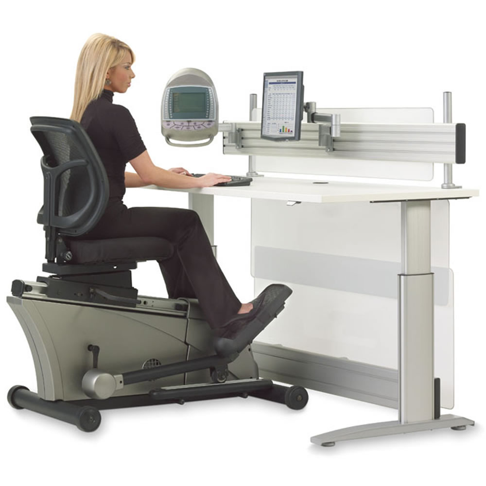 The Elliptical Machine Office Desk - Hammacher Schlemmer