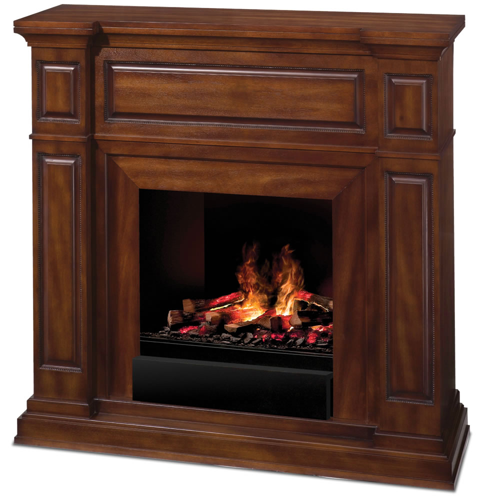 This is the electric fireplace that creates dancing flames and smoke that are indistinguishable from the real thing. A fine evaporative mist rises up through glowing