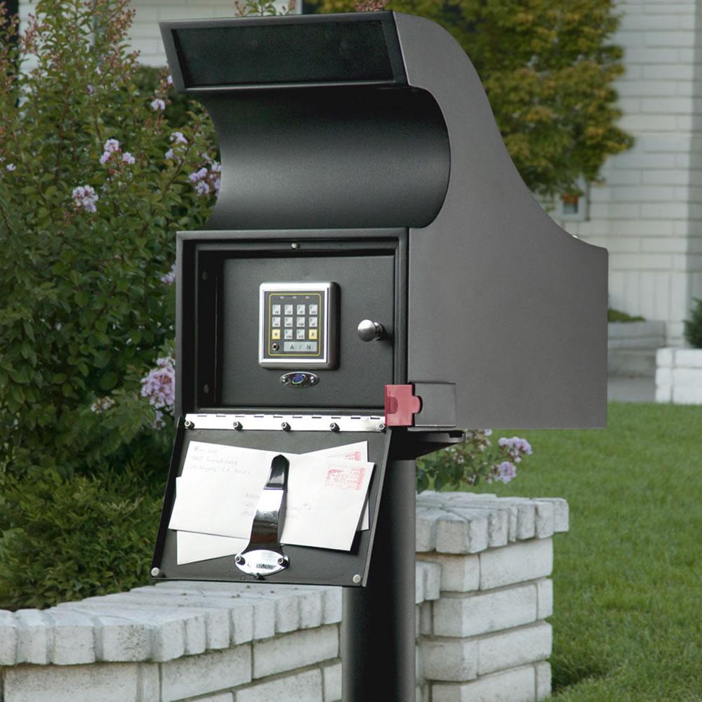 The Dead Bolt Mailbox Hammacher Schlemmer