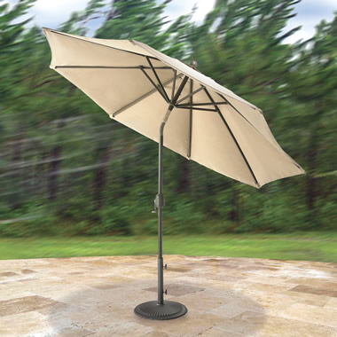 The Wind Adapting Market Umbrella