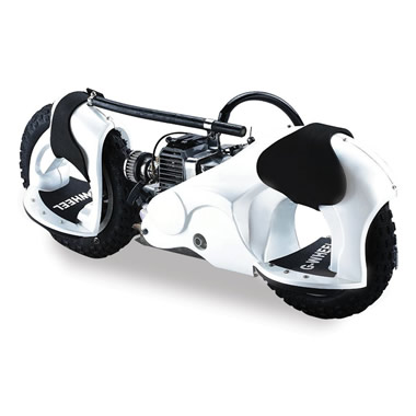 The 20 MPH Motorized Wheelrider (White).