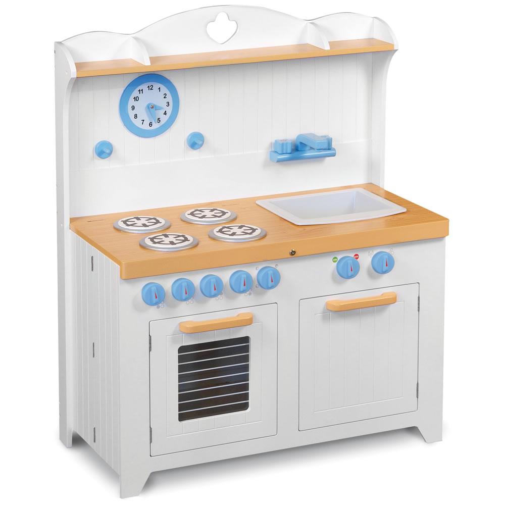 The Young Chef\'s Foldaway Kitchen Playset - Hammacher Schlemmer