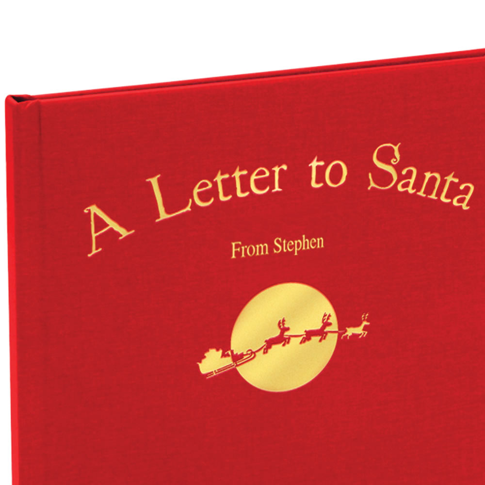 SantaS Personalized Christmas Book  Hammacher Schlemmer
