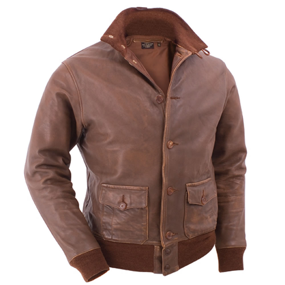 The Genuine A-1 Leather Flight Jacket - Hammacher Schlemmer