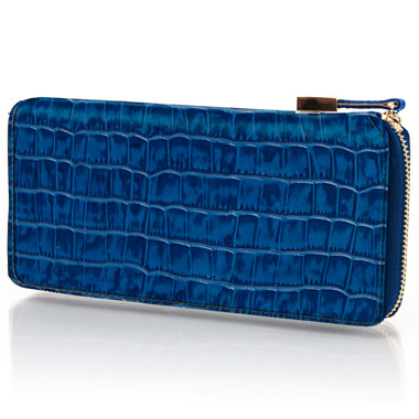 The Lady's Italian Leather Wallet (Crocodile Skin Pattern)