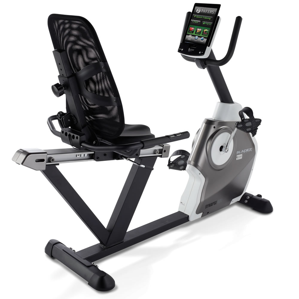 the only ipad integrating recumbent bicycle hammacher schlemmer. Black Bedroom Furniture Sets. Home Design Ideas