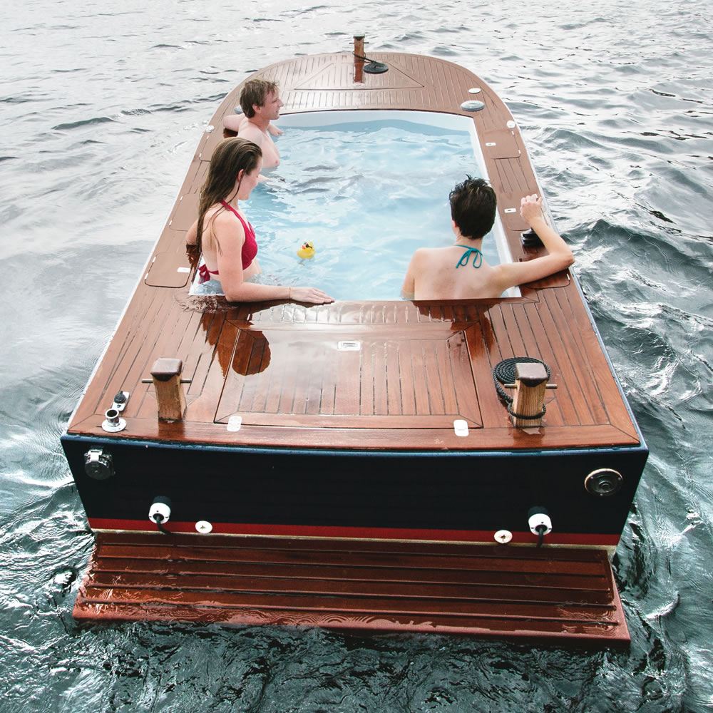 the tub boat hammacher schlemmer