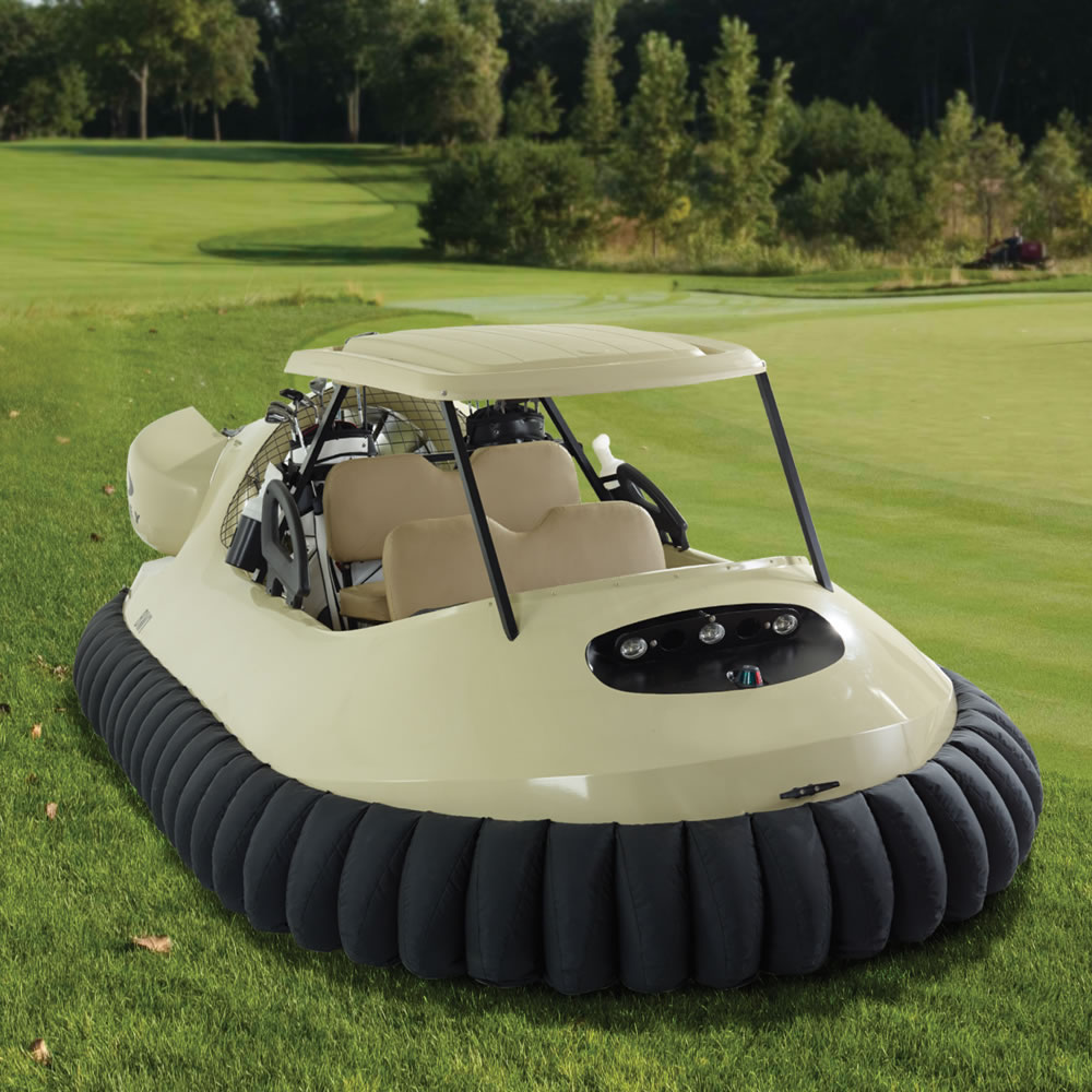 The Golf Cart Hovercraft - Hammacher Schlemmer Golf Cart Design For Teen on adult golf carts, tiny golf carts, older golf carts, old golf carts, damaged golf carts, perfect golf carts, hot golf carts, vintage golf carts, japanese golf carts, weird golf carts,