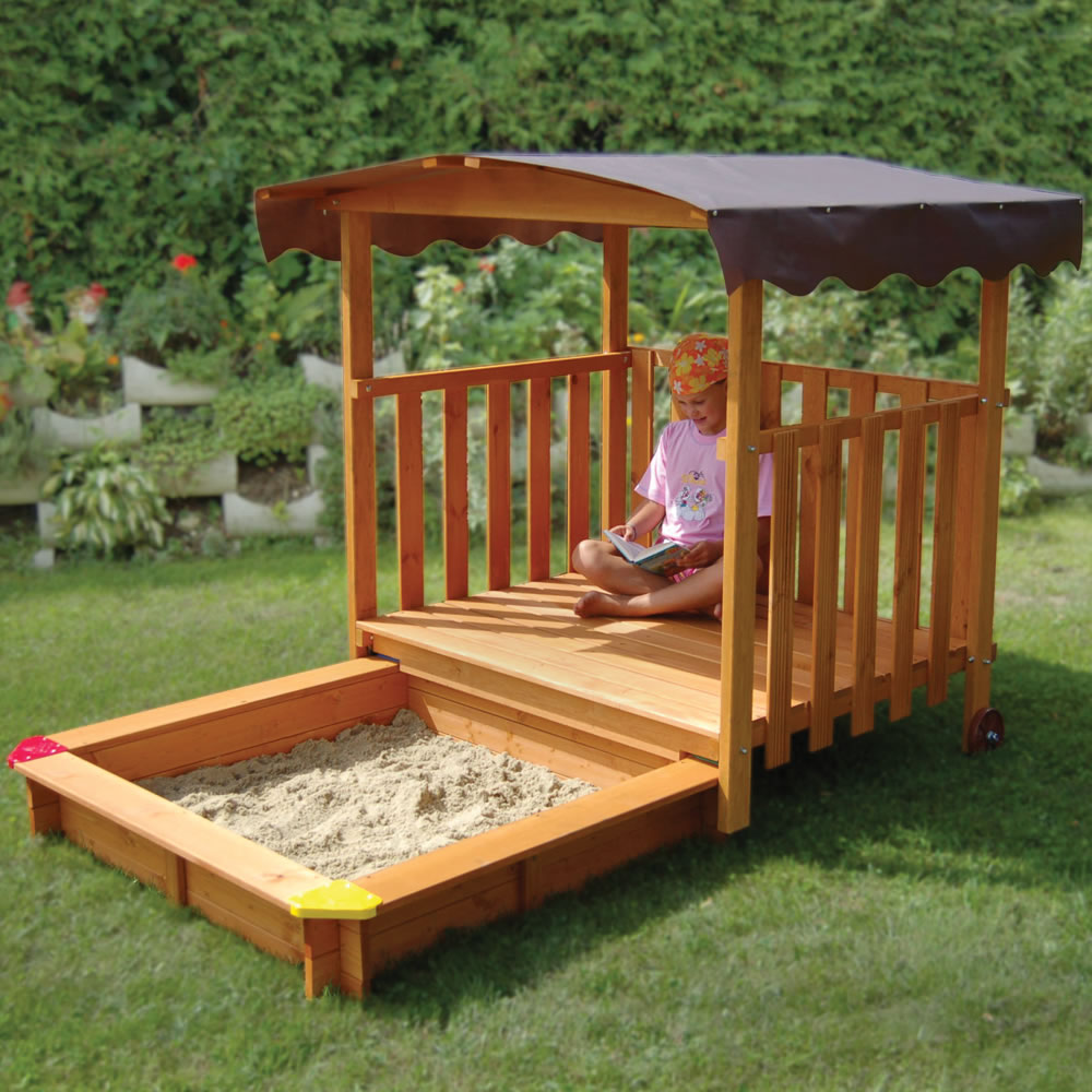 the hidden sandbox playhouse hammacher schlemmer