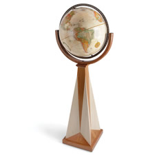 The Frank Lloyd Wright Obelisk Floor Globe