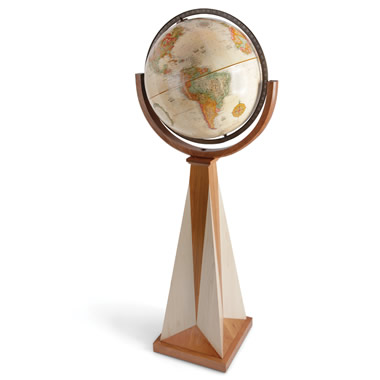The Frank Lloyd Wright Obelisk Floor Globe.