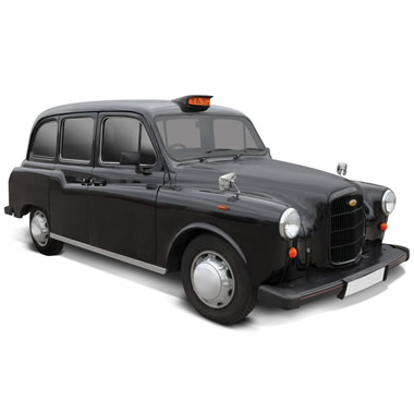 The Authentic London Taxi Cab.