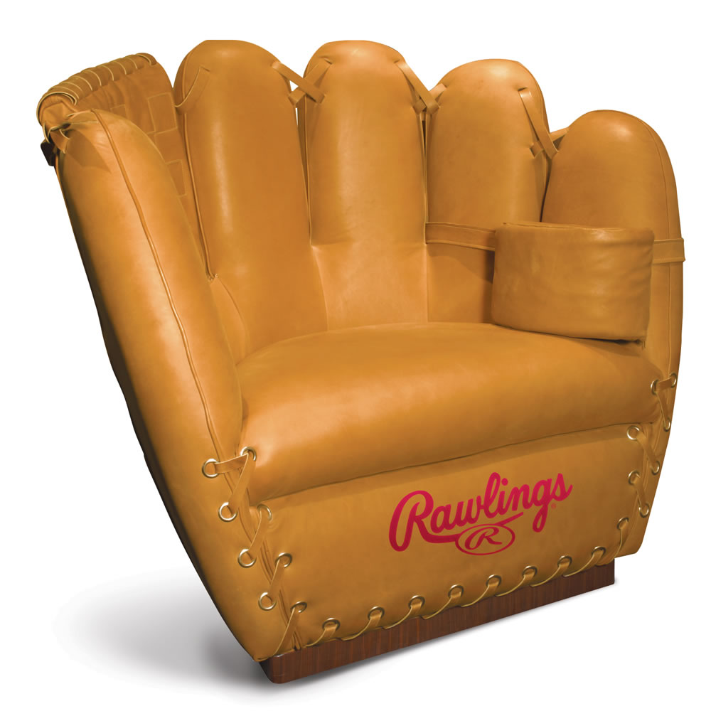 The Authentic Baseball Glove Leather Chair.