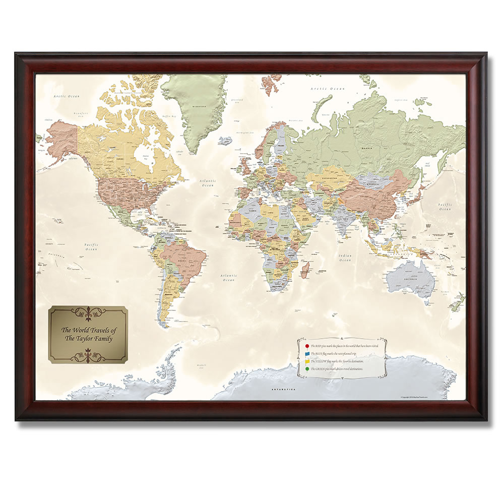 The personalized travel map hammacher schlemmer the personalized travel map gumiabroncs Choice Image
