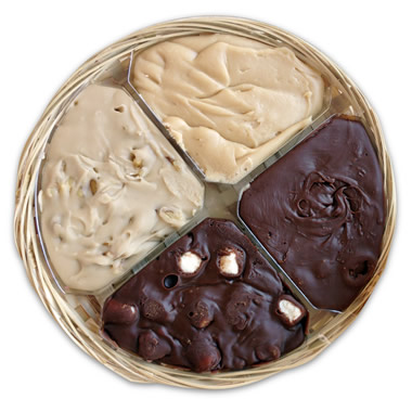 Arndt's Homemade Fudge Gift Basket.